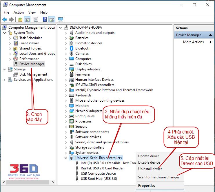 Sửa lỗi không nhận USB khóa phần mềm và không hiện biểu tượng ComPuter win 7 và win 10