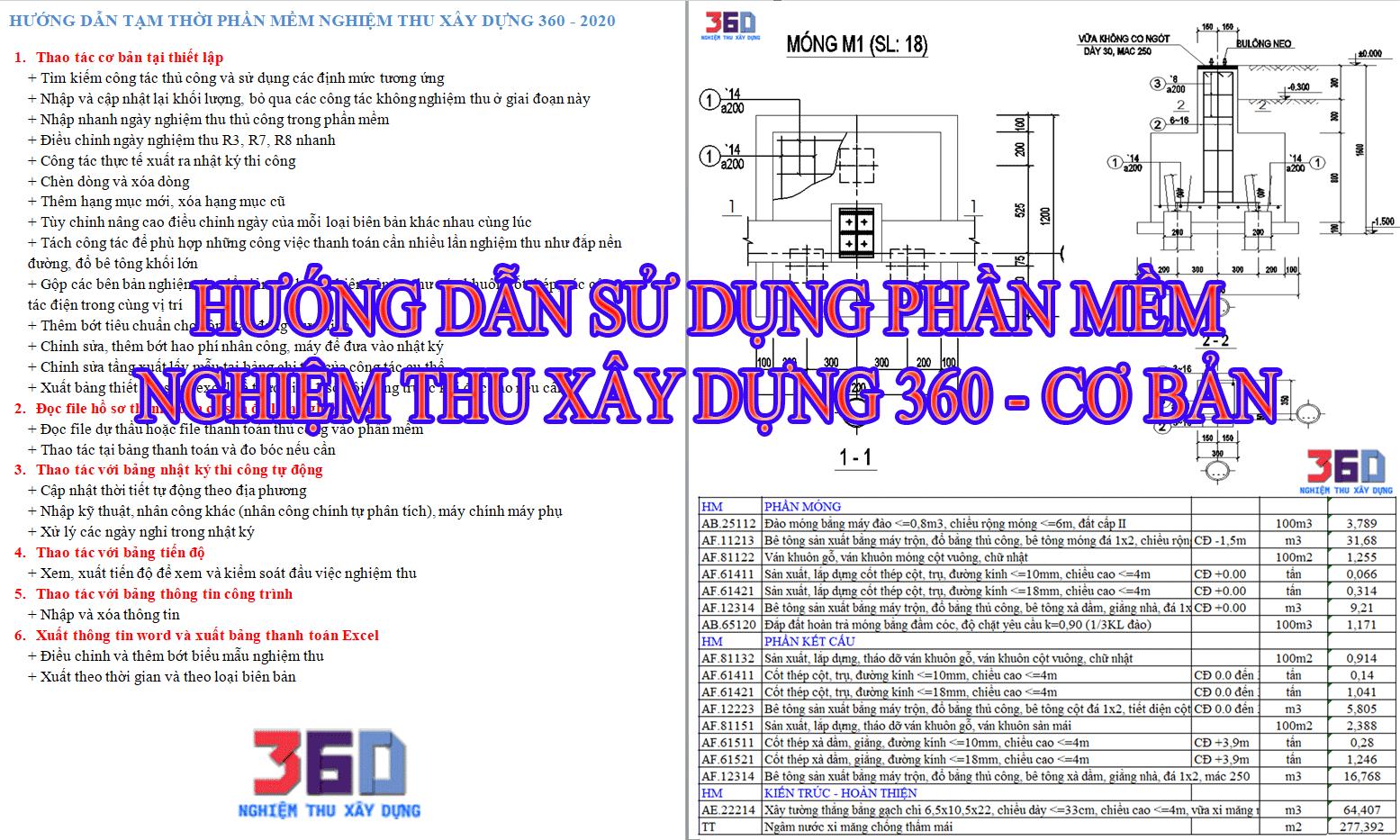 Hướng dẫn sử dụng các chức năng cơ bản để lập bộ hồ sơ nghiệm thu hoàn công nhật ký trên NTXD360