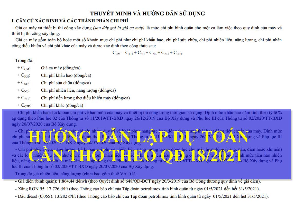 Hướng dẫn dự toán Cần Thơ theo Quyết định 1821/2021 ngày 17/8/21