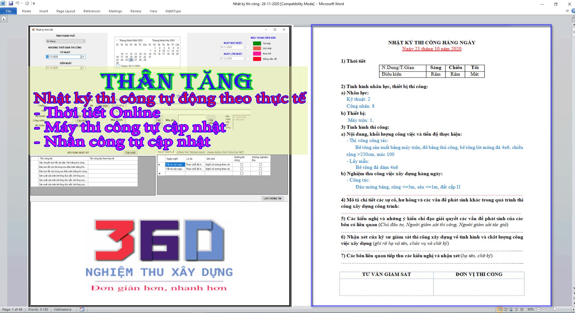 Tặng phần mềm nhật ký thi công online miễn phí có sẵn tiến độ và quyết toán
