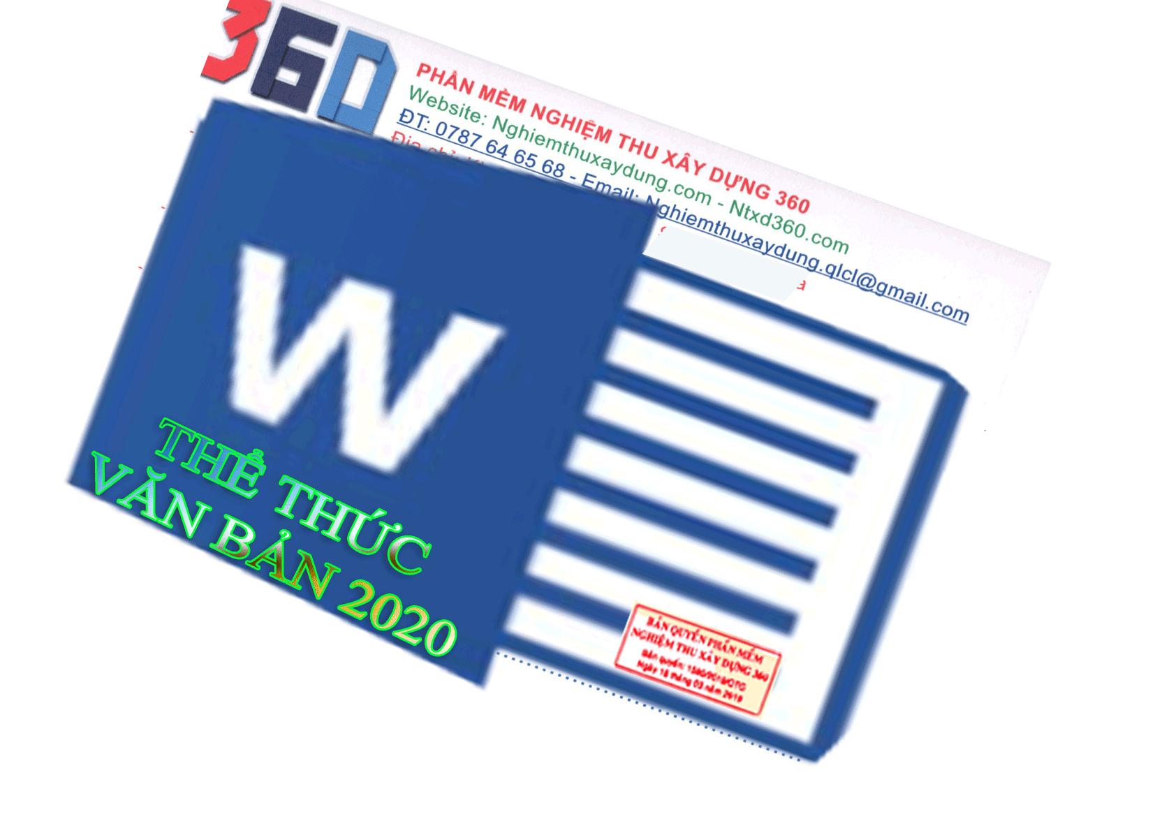 Quy định về thể thức và cách trình bầy văn bản mới nhất 2020