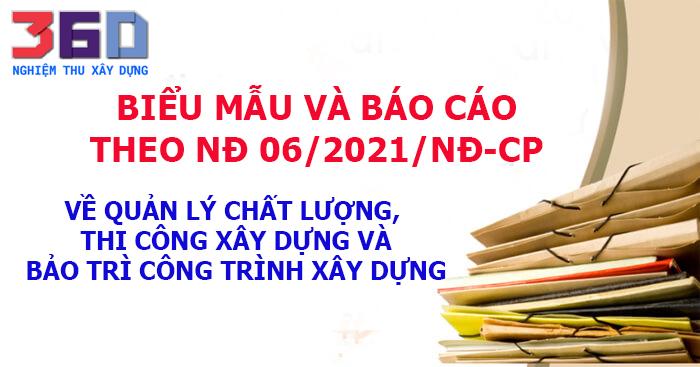 Biểu mẫu vàbáo cáo theo NĐ 06/2021/NĐ-CP