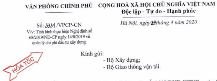CHI TIẾT ĐIỀU 36 NGHỊ ĐỊNH 68/2019/NĐ-CP- QUẢN LÝ CHI PHÍ ĐẦU TƯ XÂY DỰNG